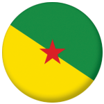French Guiana Province Flag 58mm Keyring